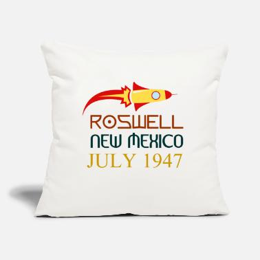 "Roswell New Mexico Roswell New Mexico july 1947 - Throw Pillow Cover 18"" x 18"""