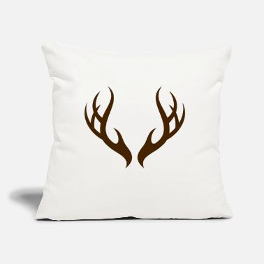 "Antler The Antlers - Throw Pillow Cover 18"" x 18"""