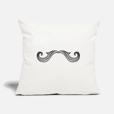 "Mustache Mustache 3, mustached, - Throw Pillow Cover 18"" x 18"""