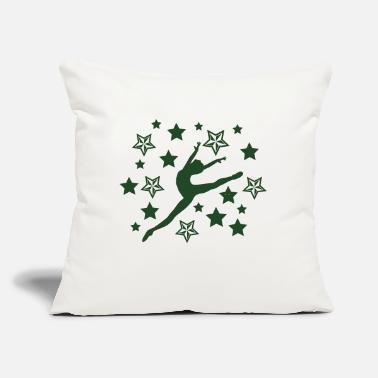 "Dancer Star Leaping - Throw Pillow Cover 18"" x 18"""
