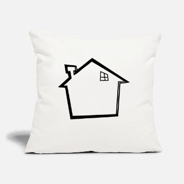 "House house - Throw Pillow Cover 18"" x 18"""