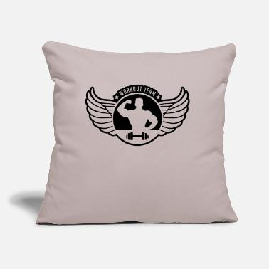 "workout_team_shield_gi1 - Throw Pillow Cover 18"" x 18"""