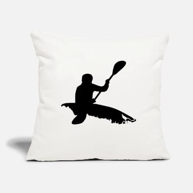 "Whitewater Kayaking Whitewater kayaking - Throw Pillow Cover 18"" x 18"""