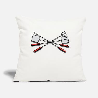 "Grill Utensils grill-308876_1280 - Throw Pillow Cover 18"" x 18"""