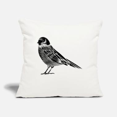 "Bird Black and white drawing of a bird - Throw Pillow Cover 18"" x 18"""