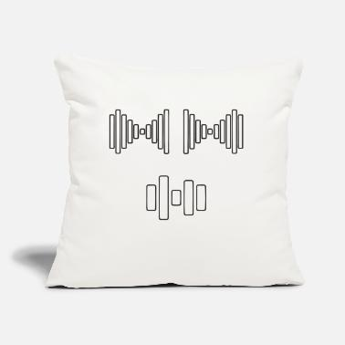 "Frequency Barbel frequency - Throw Pillow Cover 18"" x 18"""
