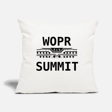 "Miscellaneous WOPR Summit 0x0 Black Text Misc - Throw Pillow Cover 18"" x 18"""