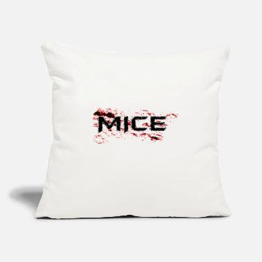 "Mice MICE - Throw Pillow Cover 18"" x 18"""