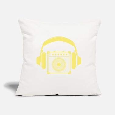 "Amplifier Amplifier with Headphones Music Design - Throw Pillow Cover 18"" x 18"""