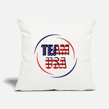 "Made Team USA - Throw Pillow Cover 18"" x 18"""