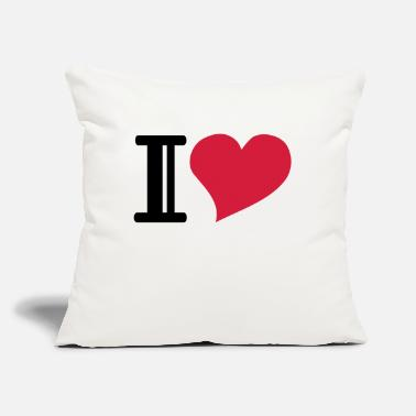 "I Heart i heart - Throw Pillow Cover 18"" x 18"""
