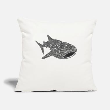 "Save The Sharks Shark Fish Animal save the whale shark sharks fish dive diver diving - Throw Pillow Cover 18"" x 18"""