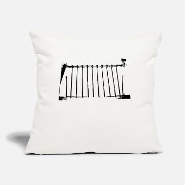"Gate gate - Throw Pillow Cover 18"" x 18"""