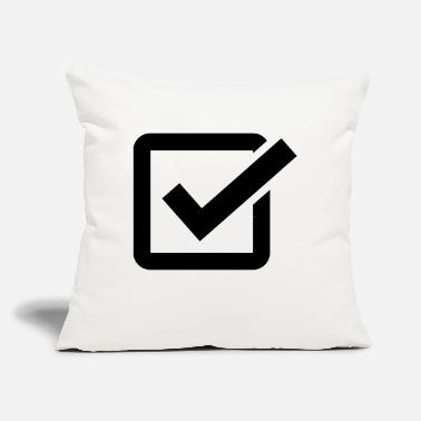 "Check Check Mark - Throw Pillow Cover 18"" x 18"""