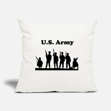 "Military US. Army - United States Military - Throw Pillow Cover 18"" x 18"""