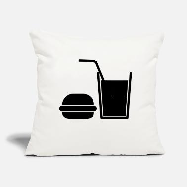 "Fast Food Fast Food - Throw Pillow Cover 18"" x 18"""