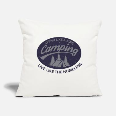 "Irony Irony of Camping - Throw Pillow Cover 18"" x 18"""