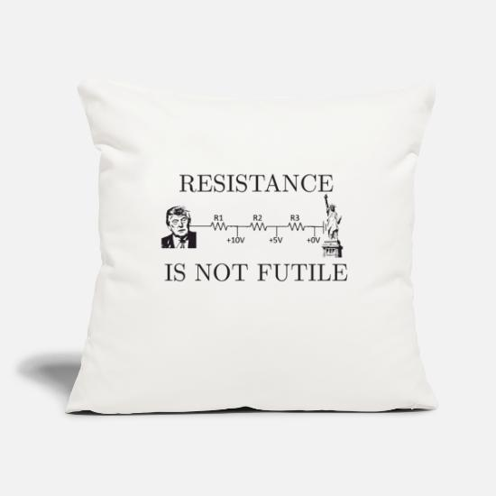 "Star Pillow Cases - resistance is not futile - Throw Pillow Cover 18"" x 18"" natural white"
