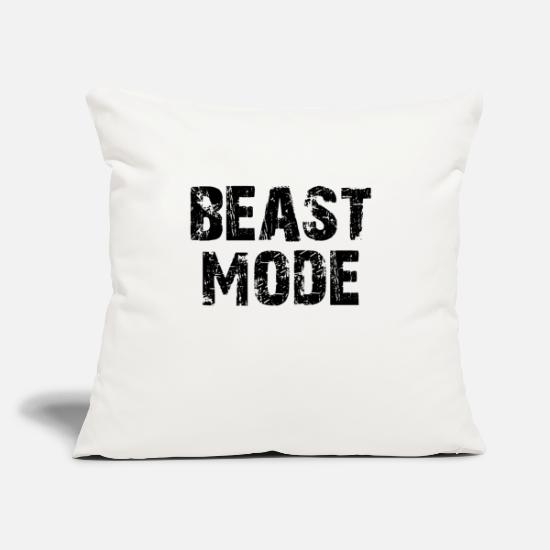 "Mode Pillow Cases - Mode Beast - Throw Pillow Cover 18"" x 18"" natural white"