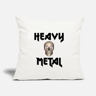 "Heavy Heavy Metal - Throw Pillow Cover 18"" x 18"""