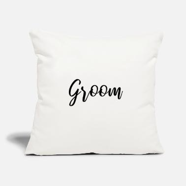 "Groom Text GROOM TEXT DESIGN GIFT IDEA! - Throw Pillow Cover 18"" x 18"""