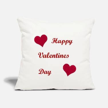"Pillow Red Heart Throw Pillow White - Throw Pillow Cover 18"" x 18"""