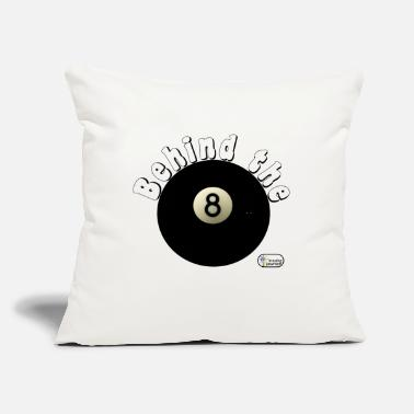 "Eight Balls Behind The Eight Ball - Throw Pillow Cover 18"" x 18"""