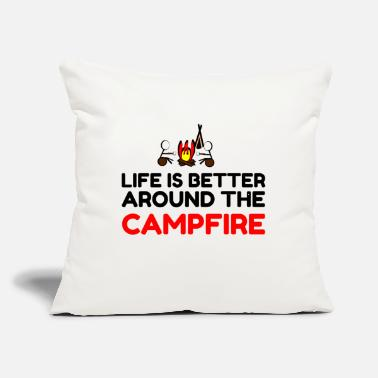 "Berchtesgadener Land Around The Campfire - Throw Pillow Cover 18"" x 18"""
