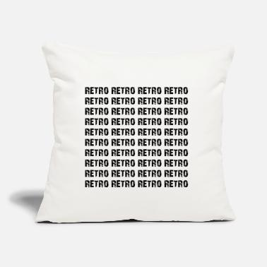 "Retro #1 RETRO RETRO RETRO - Throw Pillow Cover 18"" x 18"""