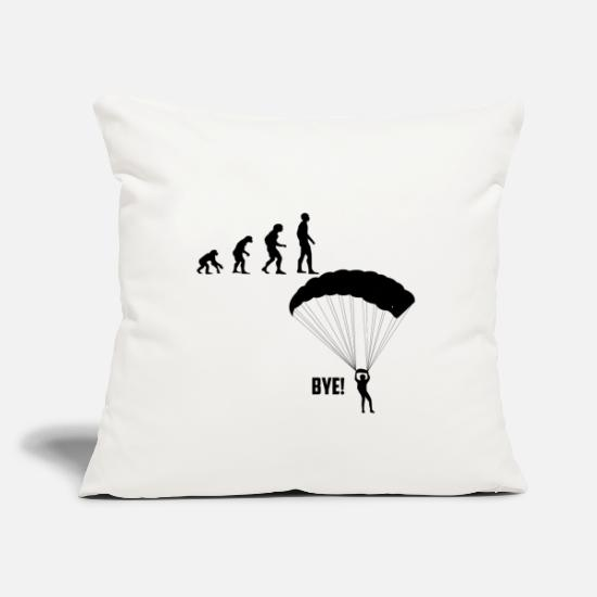 "Skydiving Pillow Cases - Skydiving - Throw Pillow Cover 18"" x 18"" natural white"