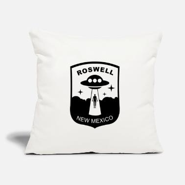 "Roswell New Mexico ROSWELL NEW MEXICO UFO CONSPIRICY PATCH - Throw Pillow Cover 18"" x 18"""