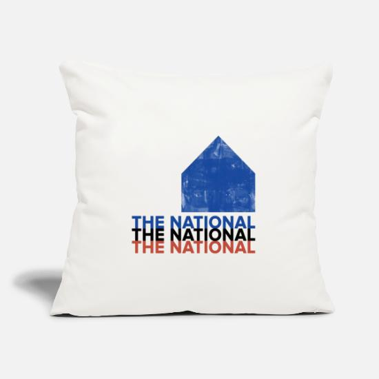 "National Team Pillow Cases - the national band - Throw Pillow Cover 18"" x 18"" natural white"