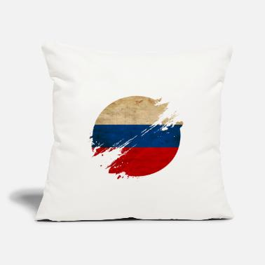 "Russian Circles Russia Vintage Circle / Flag - Throw Pillow Cover 18"" x 18"""