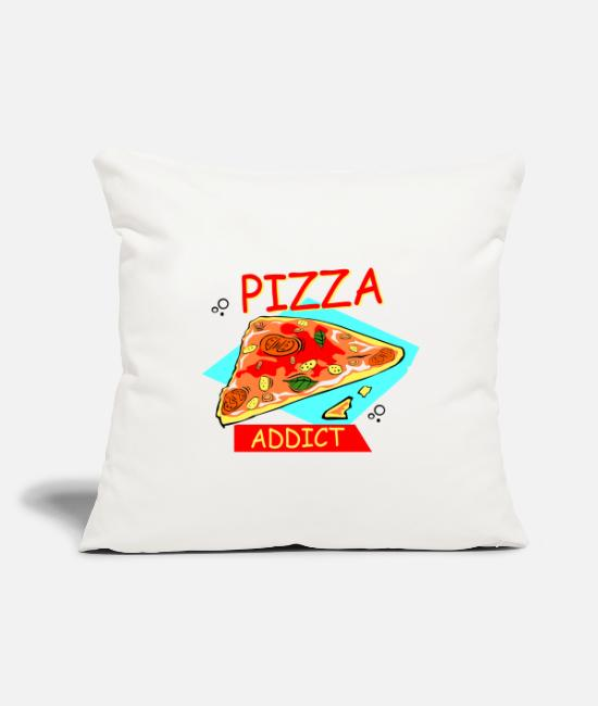 "Pizza Pillow Cases - I'm addicted to pizza! Pizza Love - Throw Pillow Cover 18"" x 18"" natural white"