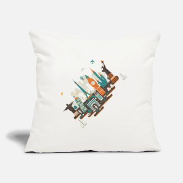 "Inclined Tower A series of works everywhere I will - Throw Pillow Cover 18"" x 18"""