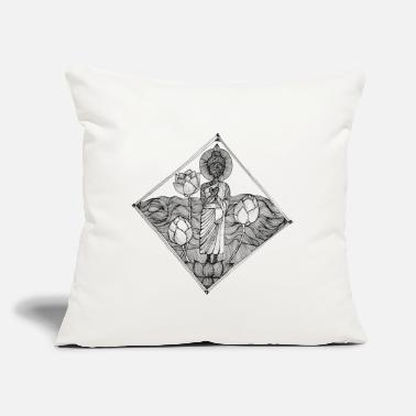"Pen The Lined Design and The vector design. - Throw Pillow Cover 18"" x 18"""