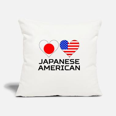 "Japanese American Japanese American Hearts - Throw Pillow Cover 18"" x 18"""