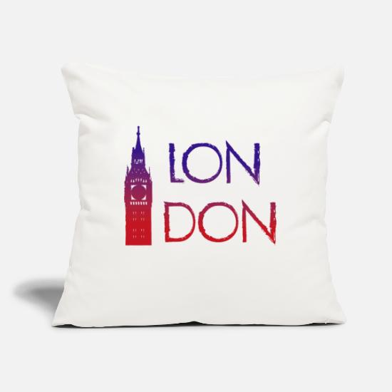 "Capital Pillow Cases - London - Throw Pillow Cover 18"" x 18"" natural white"