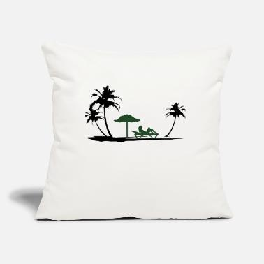 "Beach Holiday Beach holidays - Throw Pillow Cover 18"" x 18"""