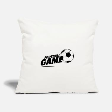 "Football Game Football Game - Throw Pillow Cover 18"" x 18"""