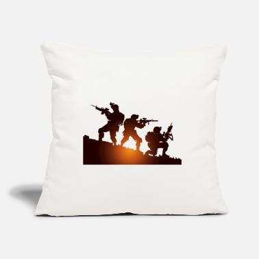 "Military Military - Throw Pillow Cover 18"" x 18"""