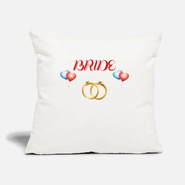 "Bride Bride to be - Throw Pillow Cover 18"" x 18"""