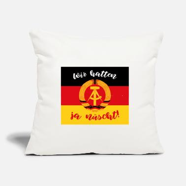 "Down We didn't have enough gift GDR East Germany - Throw Pillow Cover 18"" x 18"""