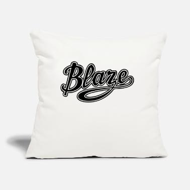"Blaze blaze - Throw Pillow Cover 18"" x 18"""