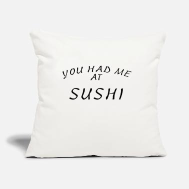"Sushi Go go for sushi - Throw Pillow Cover 18"" x 18"""