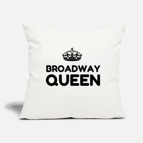 "Broadway Pillow Cases - BROADWAY QUEEN - Throw Pillow Cover 18"" x 18"" natural white"