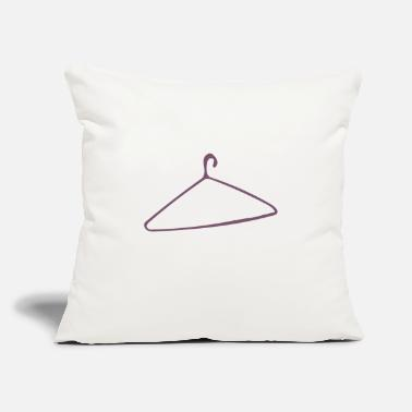 "Coat Coat Hanger - Throw Pillow Cover 18"" x 18"""