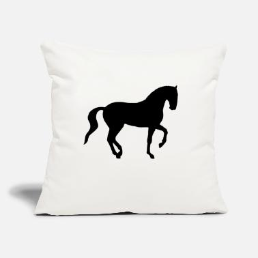 "Dressage Horse Dressage Piaffe Horse - Throw Pillow Cover 18"" x 18"""