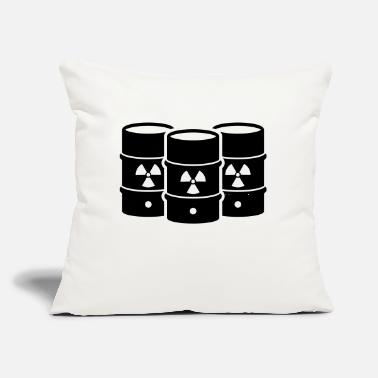 "Nuclear Waste Nuclear waste - say no! - Throw Pillow Cover 18"" x 18"""