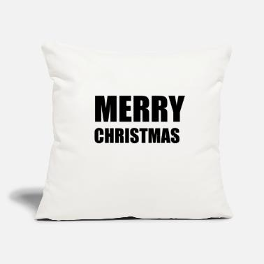 "Merry MERRY - Throw Pillow Cover 18"" x 18"""